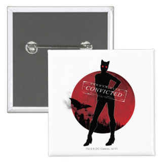 Catwoman Convicted White Button