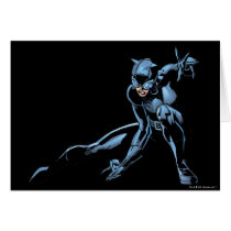 Catwoman crouches card