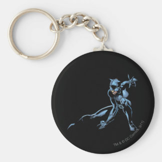 Catwoman crouches keychain