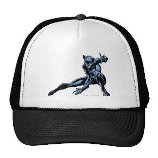 Catwoman crouches trucker hat