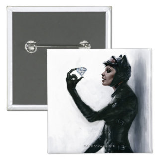 Catwoman Illustration Button