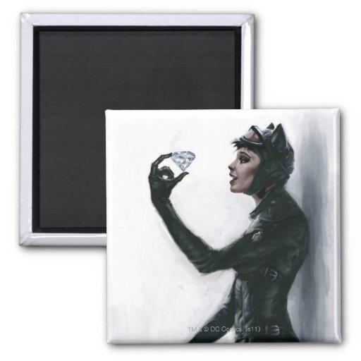 Catwoman Illustration Refrigerator Magnets