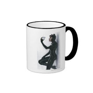 Catwoman Illustration Ringer Mug