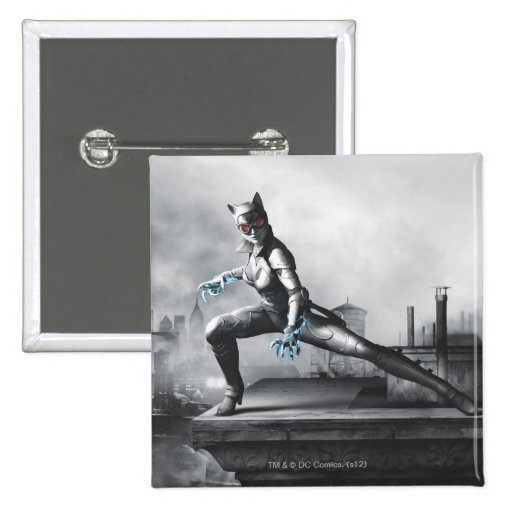 Catwoman - Lightning 2 Inch Square Button