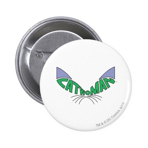 Catwoman Logo Green Buttons
