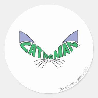 Catwoman Logo Green Classic Round Sticker