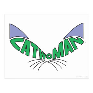 Catwoman Logo Green Postcard