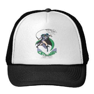 Catwoman & Logo Green Trucker Hat
