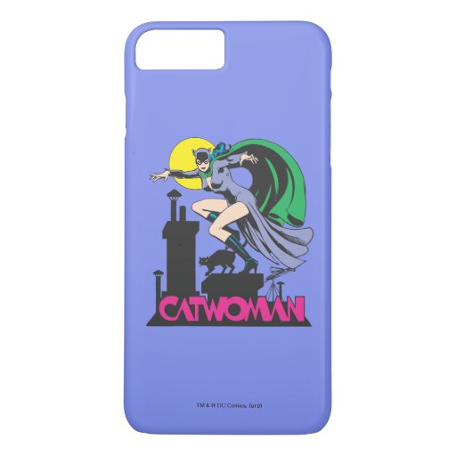 Catwoman & Logo Pink iPhone 8 Plus/7 Plus Case