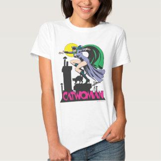 Catwoman & Logo Pink Tshirts