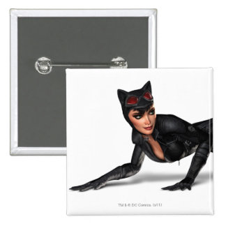 Catwoman Lurking Pinback Button