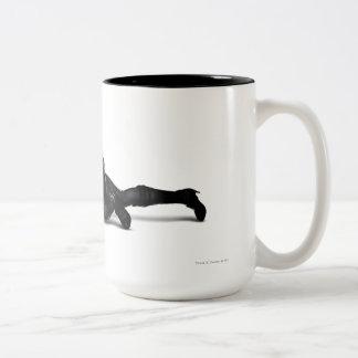 Catwoman Lurking Two-Tone Coffee Mug