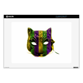 """Catwoman Mardi Gras Mask Decal For 15"""" Laptop"""