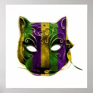 Catwoman Mardi Gras Mask Poster