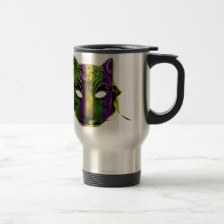 Catwoman Mardi Gras Mask Travel Mug