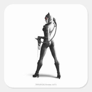 Catwoman Pegatina Cuadrada
