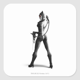 Catwoman Pegatina Cuadradas Personalizada