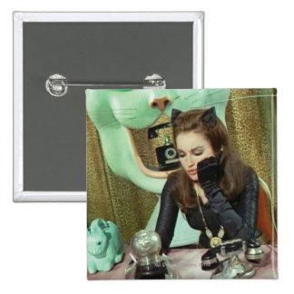 Catwoman Pin Cuadrada 5 Cm