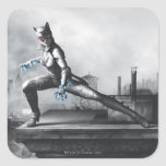 Catwoman - relámpago calcomania cuadradas personalizadas