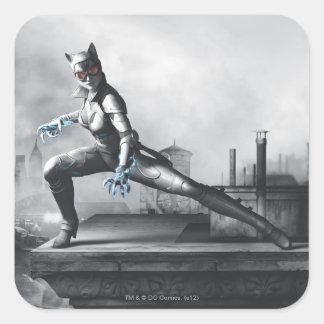 Catwoman - relámpago calcomanía cuadradas personalizada