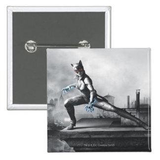 Catwoman - relámpago pin cuadrado