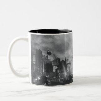 Catwoman - relámpago taza de café de dos colores