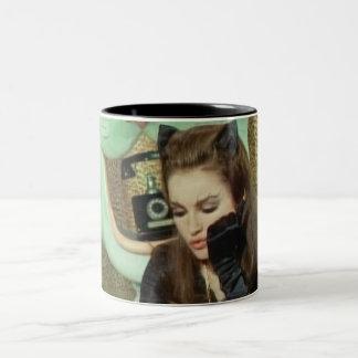 Catwoman Two-Tone Coffee Mug