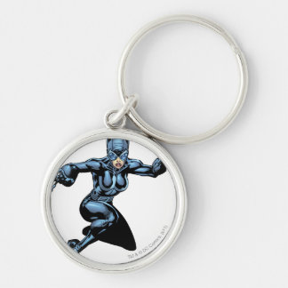 Catwoman with Claws Silver-Colored Round Keychain