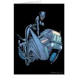 Catwoman y bici tarjeta de felicitación