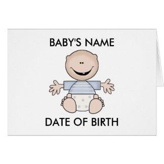 Caucasian Boy Newborn Greeting Card