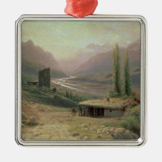 Caucasian Canyon, 1893 Metal Ornament