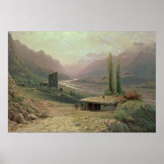 Caucasian Canyon, 1893 Poster