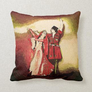 Caucasian Dancers 1 Throw Pillows