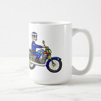 Caucasian Motorcycle Cop Mug  Customize It!