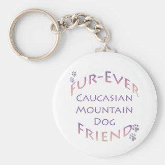 Caucasian Mountain Dog Furever Keychain