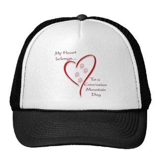 Caucasian Mountain Dog Heart Belongs Trucker Hat