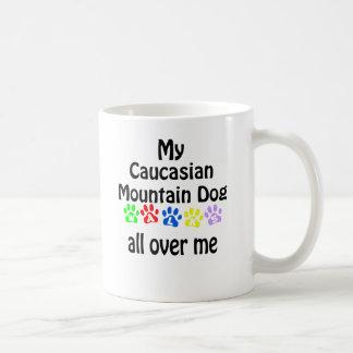 Caucasian Mountain Dog Walks Design Coffee Mug