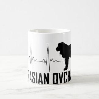 Caucasian Ovcharka Heartbeat Mug