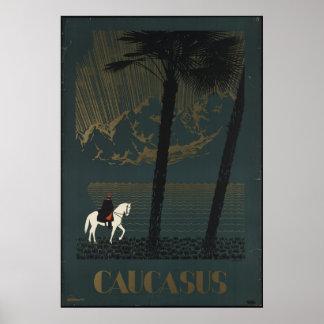 Caucasus Vintage Travel Poster Ad Retro Prints