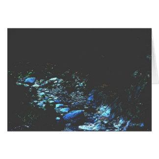 Cauce del río iluminado por la luna felicitacion