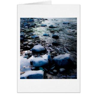 Cauce del río tarjetón