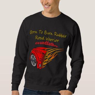 Caucho de abuelo de la quemadura que compite con suéter