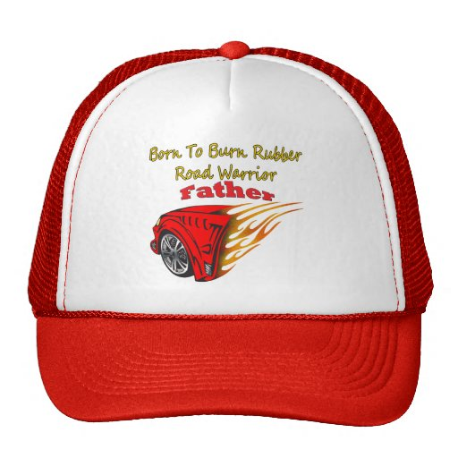 Caucho de la quemadura del padre que compite con l gorras de camionero