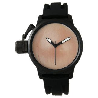 Caucho del negro del protector de la corona de la relojes de pulsera