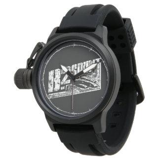 Caucho del negro del protector de la corona del reloj de mano