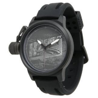 Caucho del negro del protector de la corona del relojes de mano