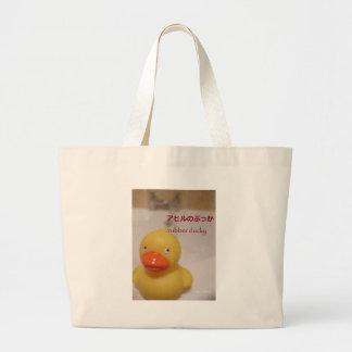 Caucho ducky bolsa tela grande