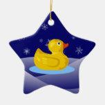 Caucho Ducky Ornamentos De Navidad