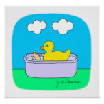 Caucho Ducky Posters