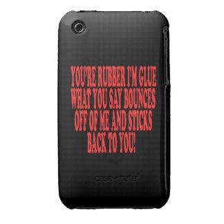 Caucho y pegamento iPhone 3 Case-Mate carcasa